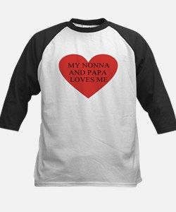 nonna and papa loves me red Tee