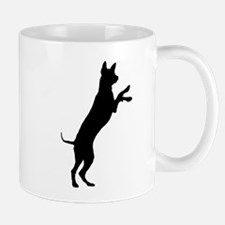 Entlebucher mountain dog silhouette Mugs