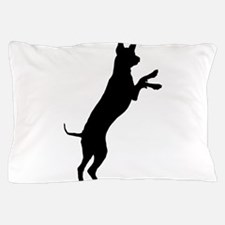Entlebucher mountain dog silhouette Pillow Case
