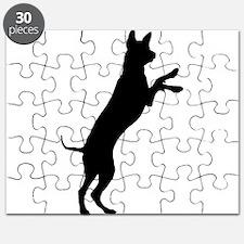 Entlebucher mountain dog silhouette Puzzle