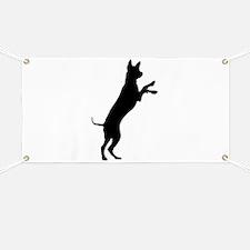 Entlebucher mountain dog silhouette Banner