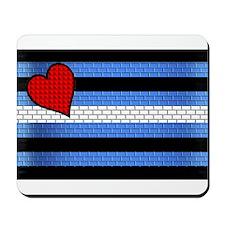BRICK LEATHER PRIDE FLAG Mousepad