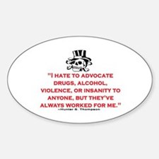 GONZO QUOTE (ORIGINAL) Decal