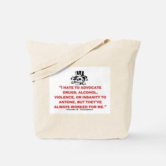 GONZO QUOTE (ORIGINAL) Tote Bag