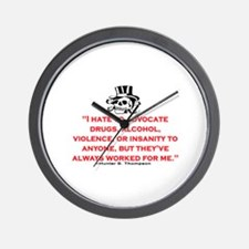 GONZO QUOTE (ORIGINAL) Wall Clock