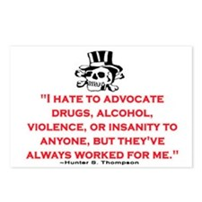 GONZO QUOTE (ORIGINAL) Postcards (Package of 8)