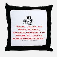 GONZO QUOTE (ORIGINAL) Throw Pillow