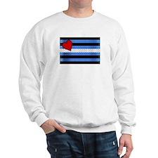 BRICK LEATHER PRIDE FLAG Sweatshirt
