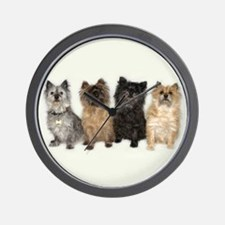 Four Cairn Terriers Wall Clock