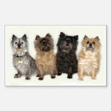 Four Cairn Terriers Decal