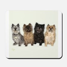 Four Cairn Terriers Mousepad