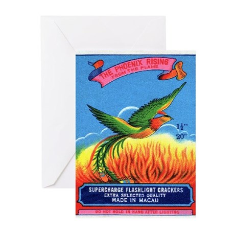 Phoenix Rising Firecracker Greeting Cards (Package