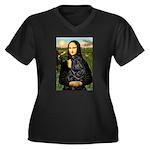 Mona's Black Shar Pei Women's Plus Size V-Neck Dar
