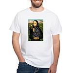 Mona's Black Shar Pei White T-Shirt