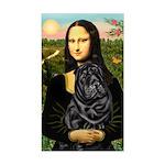 Mona's Black Shar Pei Sticker (Rectangle)