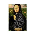 Mona's Black Shar Pei Rectangle Magnet