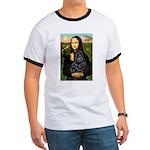 Mona's Black Shar Pei Ringer T