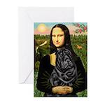 Mona's Black Shar Pei Greeting Cards (Pk of 10)