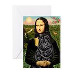 Mona's Black Shar Pei Greeting Card