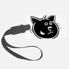 Black cat face art Luggage Tag