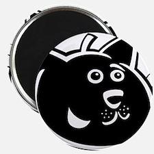 Black cat face art Magnets