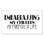 Embarrassing My Children Rectangle Sticker