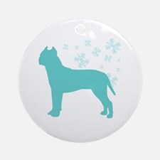 Pit Bull Terrier Snowflake Ornament (Round)