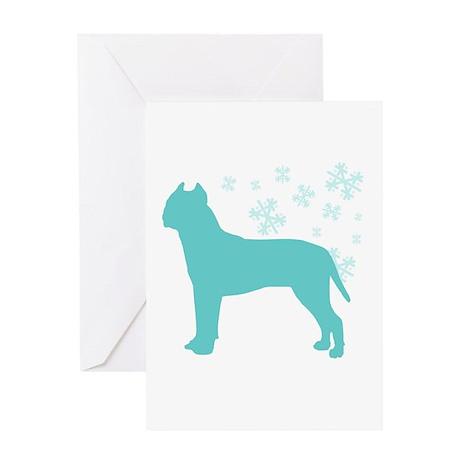 Pit Bull Terrier Snowflake Greeting Card