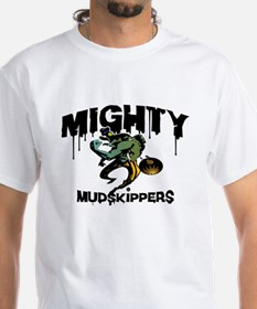 Mudskippers White T - back: We Play Dirty (color)