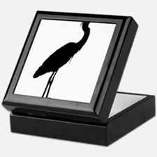 Great blue heron silhouette Keepsake Box
