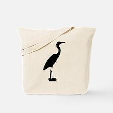 Great blue heron silhouette Tote Bag