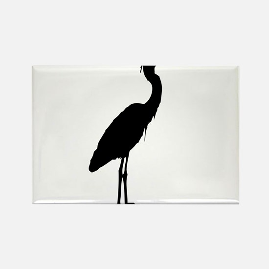 Great blue heron silhouette Magnets