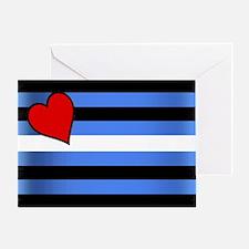 SHADOWED LEATHER PRIDE FLAG Greeting Card