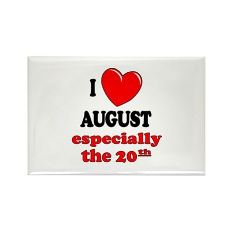 August 20th Rectangle Magnet (10 pack)