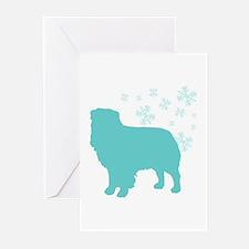 Australian Shepherd Snowflake Greeting Cards (Pk o