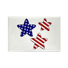 American Flag Stars Rectangle Magnet