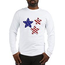 American Flag Stars Long Sleeve T-Shirt