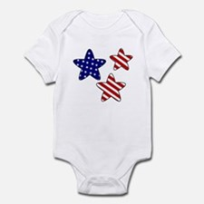 American Flag Stars Infant Bodysuit