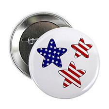 "American Flag Stars 2.25"" Button"