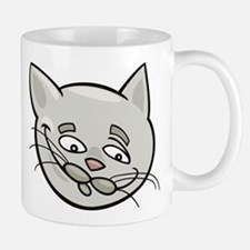 Cat sad face head art Mugs