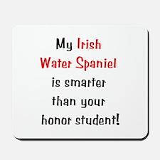 My Irish Water Spaniel is smarter... Mousepad