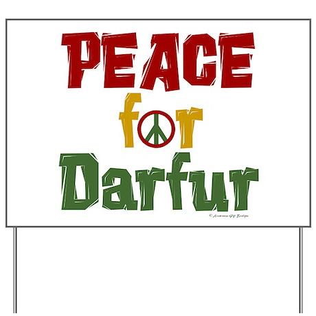 Peace For Darfur 1.1 Yard Sign