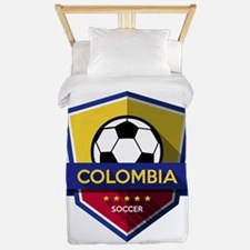 Creative soccer Colombia label Twin Duvet
