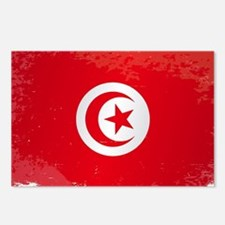 Tunisia Grunge Flag Postcards (Package of 8)