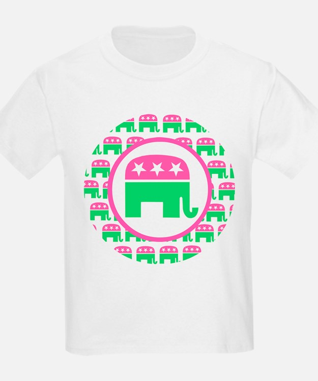 Pink and Green Republican T-Shirt