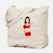 Fitness lady design Tote Bag