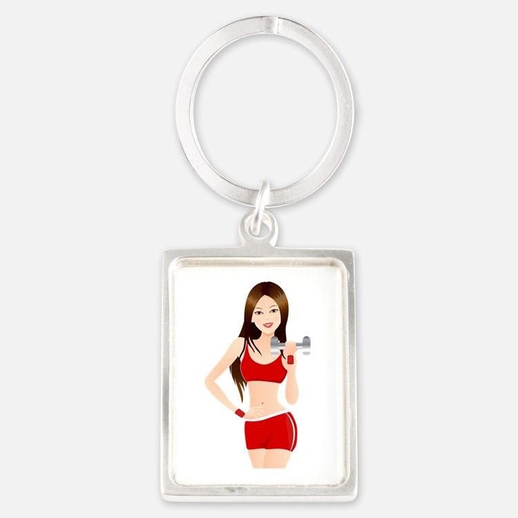 Fitness lady design Keychains