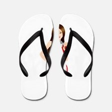 Fitness lady design Flip Flops