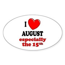 August 15th Oval Decal