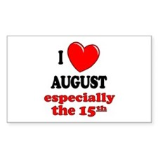 August 15th Rectangle Decal